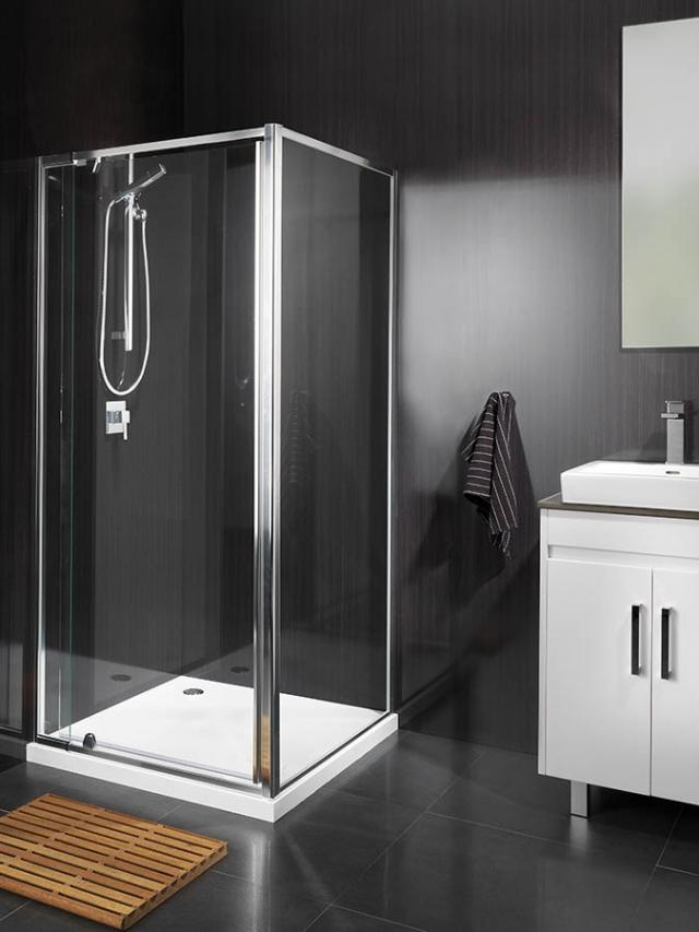 Kestrel freestyle adjustable fixed frame shower screen.